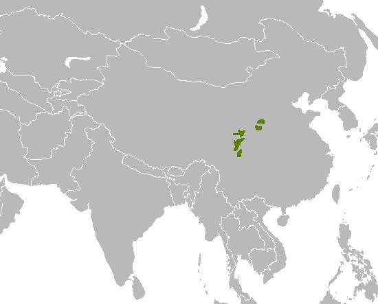 karta obitavališta velikih panda